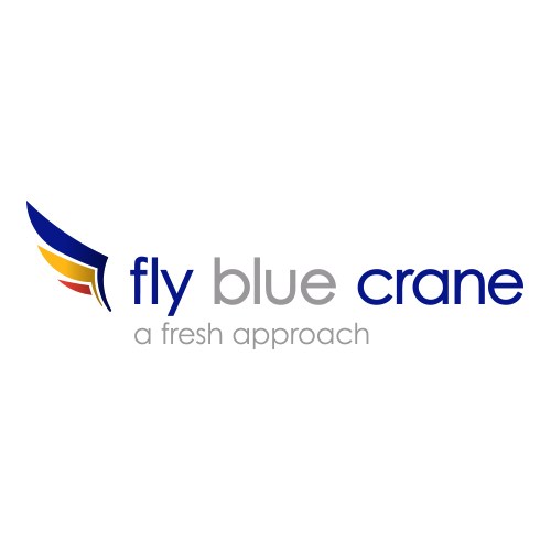 Fly Blue Crane logo