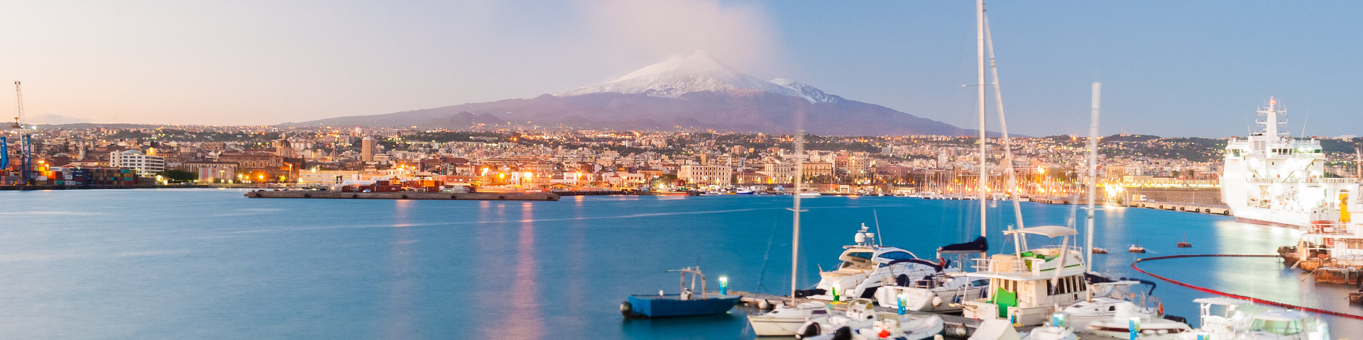 Hero catania mt. etna background