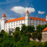 Medieval castle on hill in Bratislava