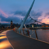 Peace Bridge At Sunset