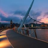 Peace Bridge At Sunset