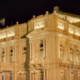 The Colon Theatre by night
