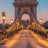Sunset on Szechenyi Chain Bridge