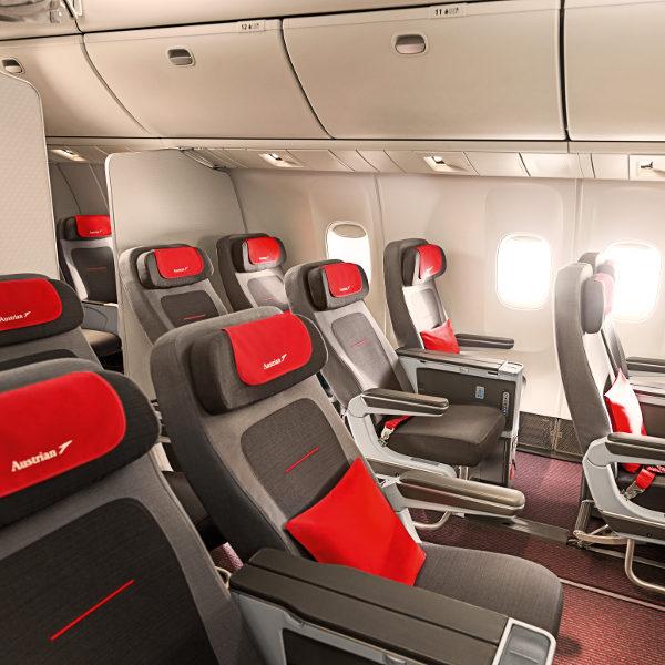 Autrian airlines seats