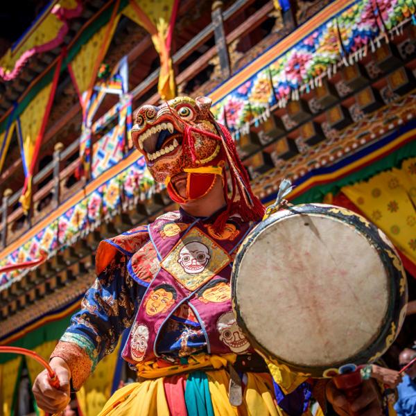 bhutan masked dance festivals