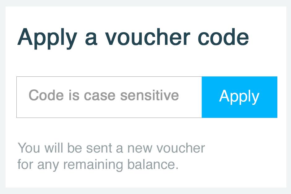 apply voucher code