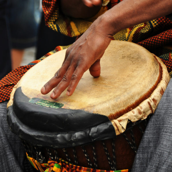 African Drum Being Played Pemba Bay