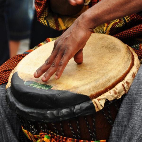 African Drum Being Played Pemba Bay