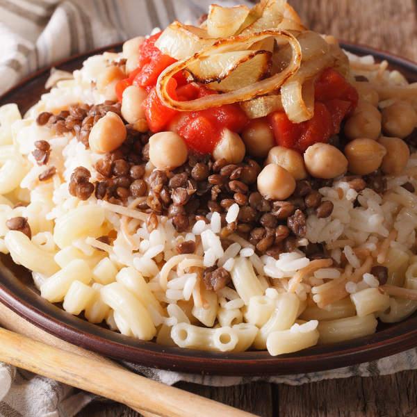 Kushari On Rice & Pasta