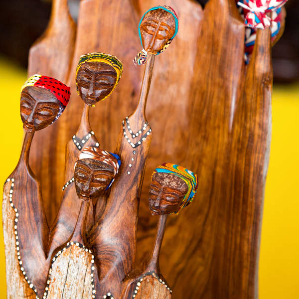 African Craft Of A Group Of Wooden Women