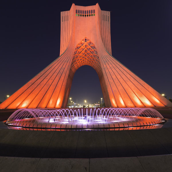 Azadi Tower at Night Tehran