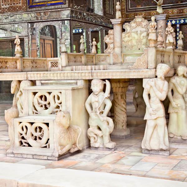 Sculptures at Golestan Palace Tehran