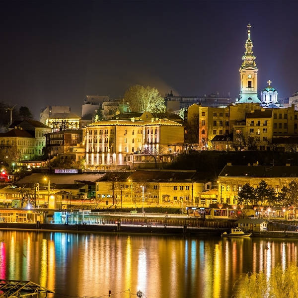 Belgrade City Lights At Night