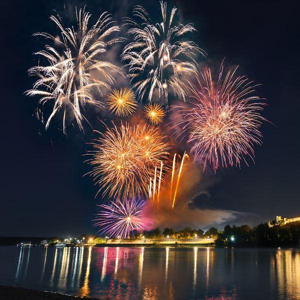 Belgrade Fireworks Cityscape
