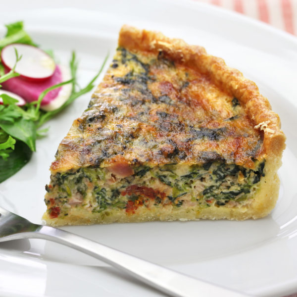 Spinach, Bacon Quiche