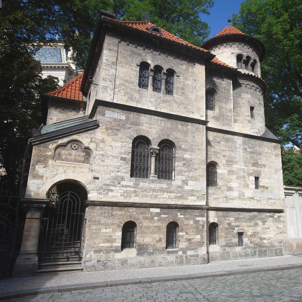 grey synagogue building
