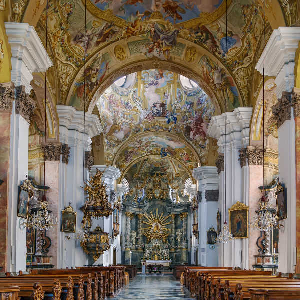 graz catholic church inside view