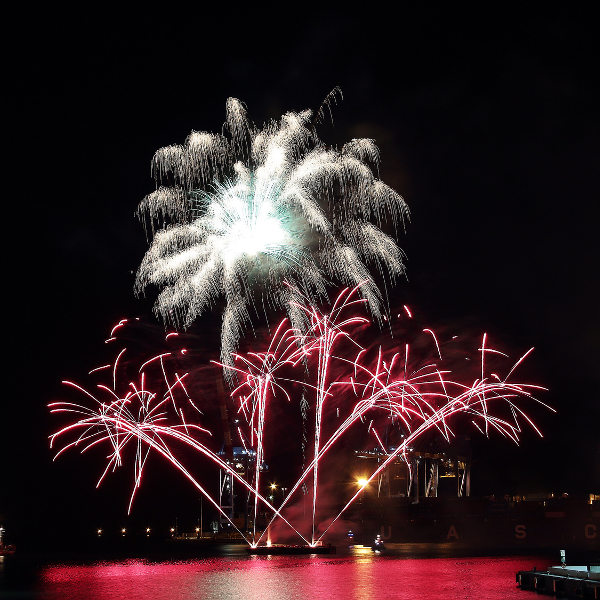 Beautiful Pyrotechnics Festival Genoa