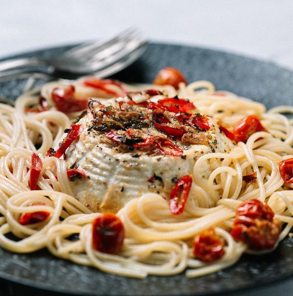 Roasted Ricotta Spaghetti Genoa