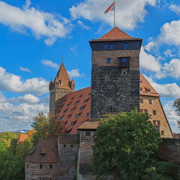 Nuremberg Castle With Blue Sky
