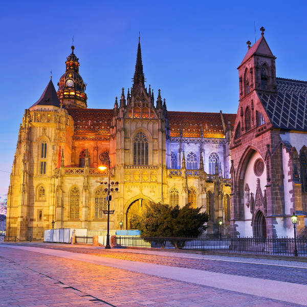kosice st elisabeth cathedral and st micheal chapel
