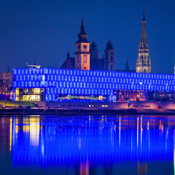 blue light building