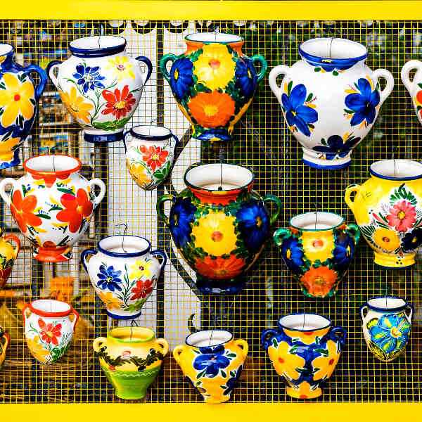 colourful ceramic art