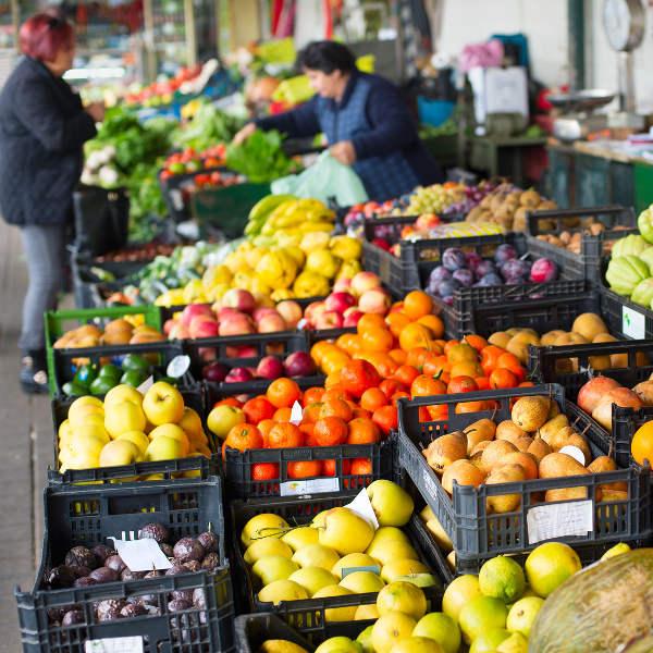fruit vegetable stall
