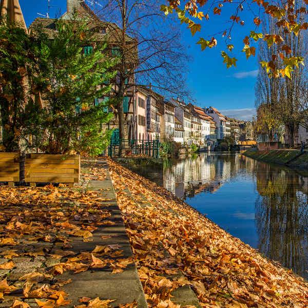 strasbourg city views autumn