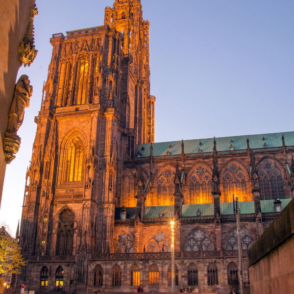 strasbourg gothic cathedral notre dame