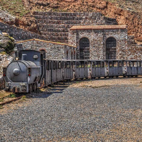 grey mining train