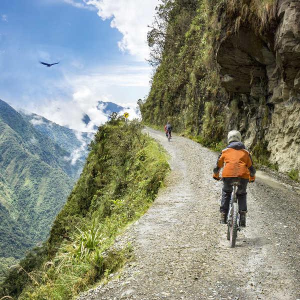 mountain road cyclist