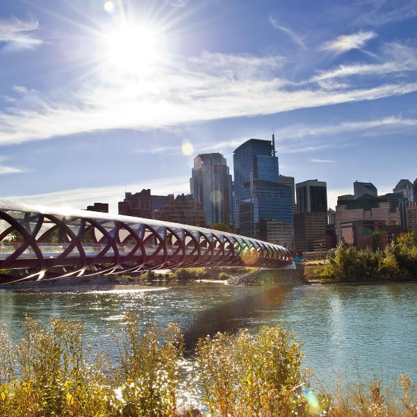 Pedestrian Bridge and Calgary