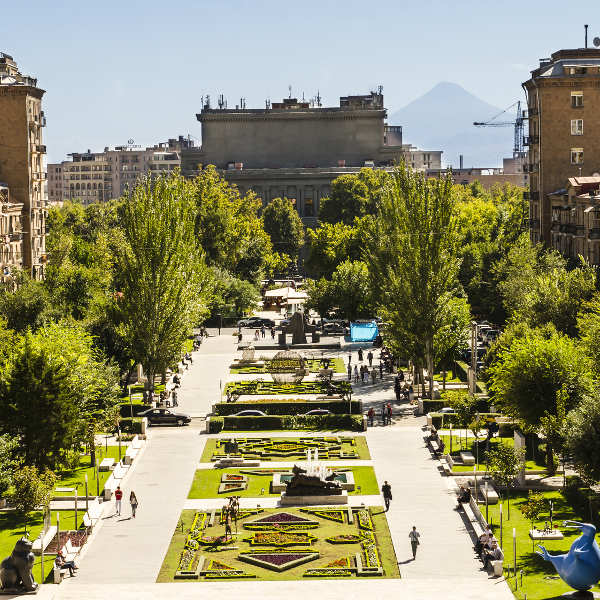 Beautiful Park in Yerevan