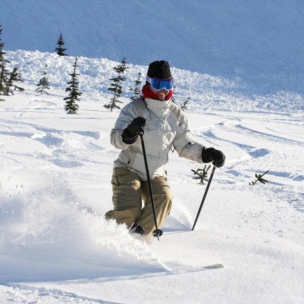 Skiing near Kelowna
