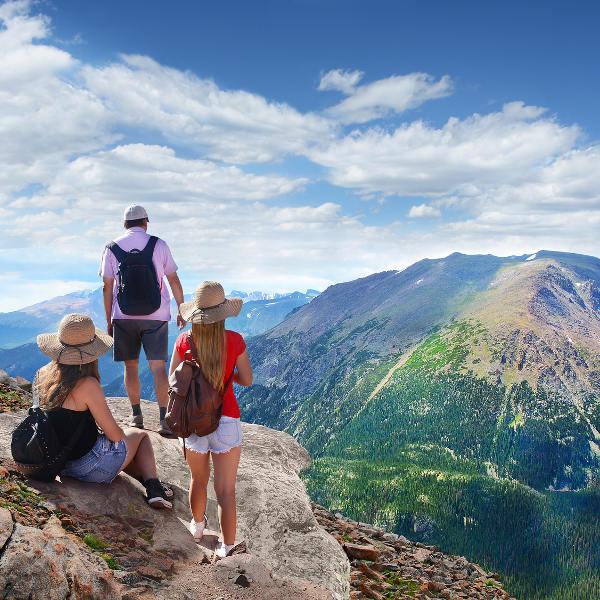 Hikers Enjoying View Near Asheville