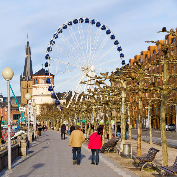 dusseldorf old town and landmarks