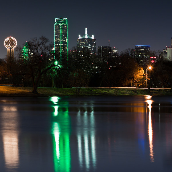 View from Lake Cliff Dallas