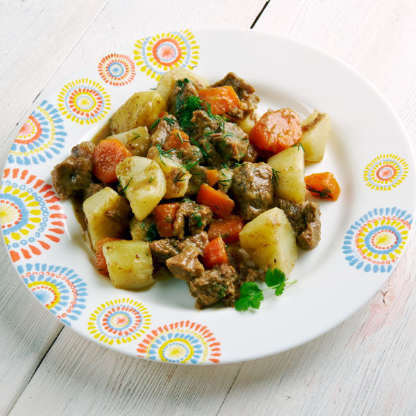 potato carrot meat dish