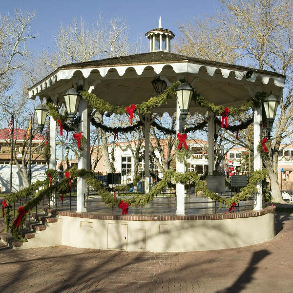 albuquerque old town gazebo