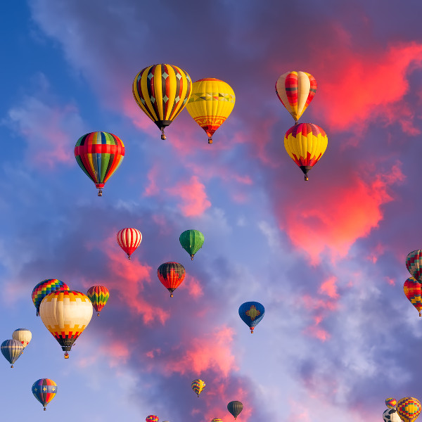 albuquerque international balloon festival skies