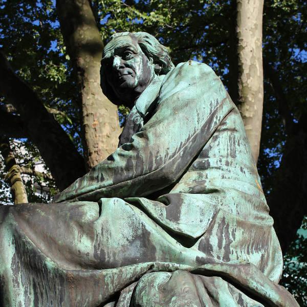 green man statue