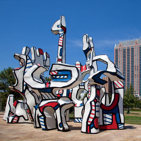Colourful Sculpture Dallas Texas