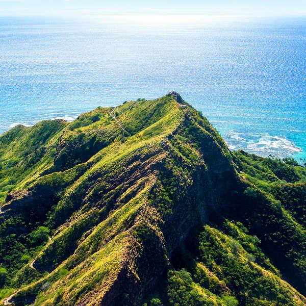 green mountain ocean