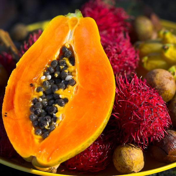 paw paw pink fruit