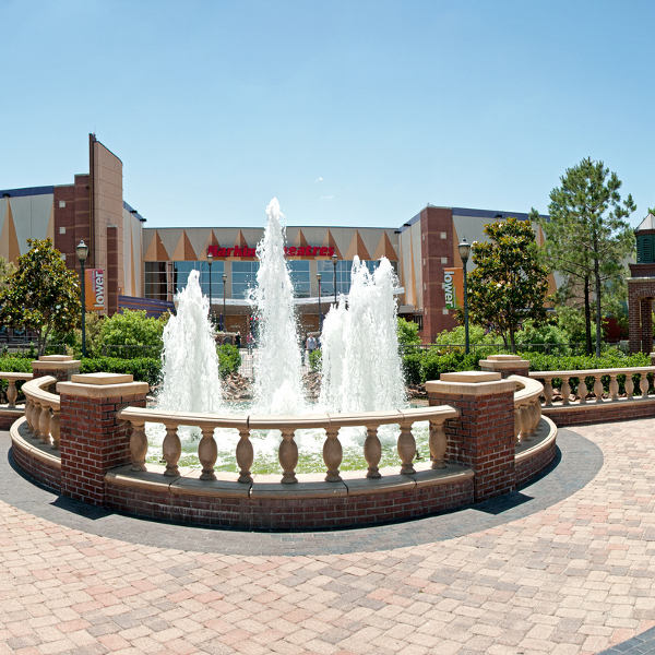 fountain brick building