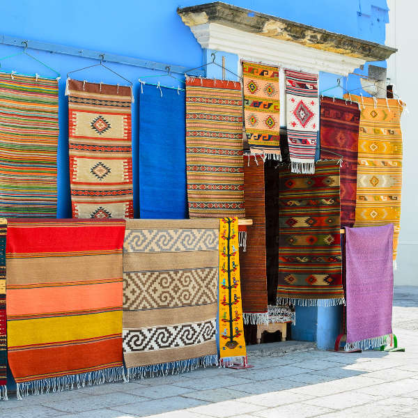mexican rugs blue house