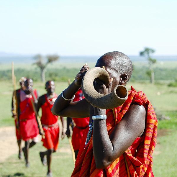 maasai man horn