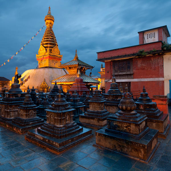temples at night