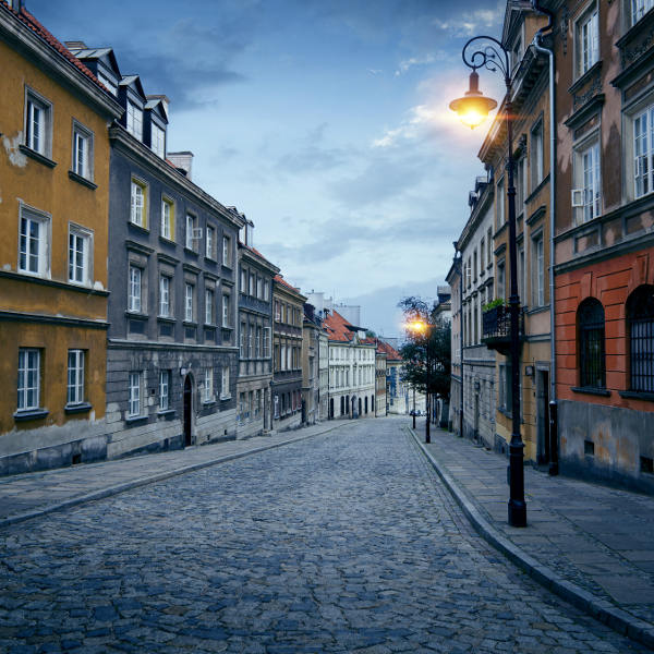 cobblestoned old town